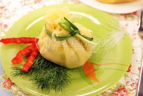 Рецепт Салатик в сырном мешочке