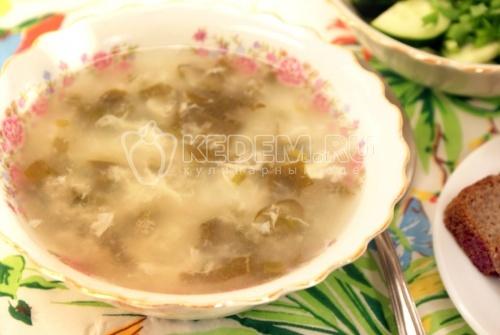 Суп с щавелем и рисом