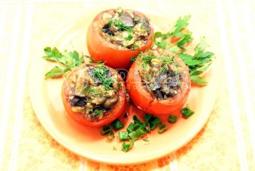 Помидоры, фаршированные баклажанами. Кулинарный рецепт с фотографиями приготовления помидор фаршированных баклажанами.
