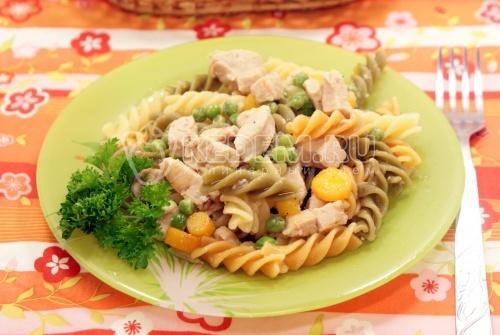 Макароны с курицей, грибами и сыром / Блюда из птицы ...