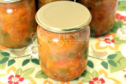 Закуска из перца и моркови. Кулинарный рецепт с фотографиями приготовления закуски из перца и моркови на зиму.