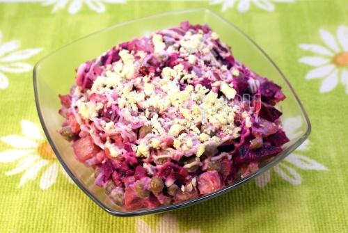 Салат «Осенний». Кулинарный пошаговый рецепт с фотографиями приготовления салата с курицей.
