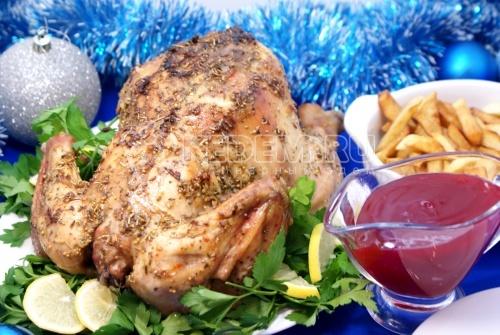 Рецепт Пикантная курица с клюквенным соусом