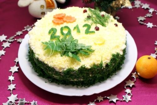 новогодние салаты с фото на 2012 год