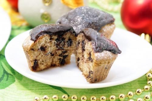 Шоколадные кексики. Кулинарный пошаговый рецепт с фотографиями приготовления шоколадных кексиков на Новый год.