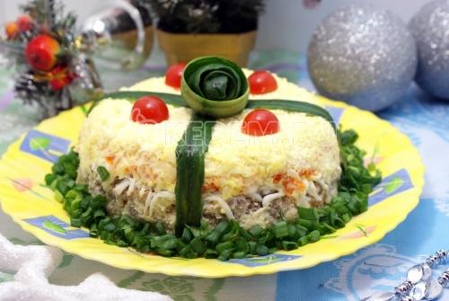Слоеного салата на новый год