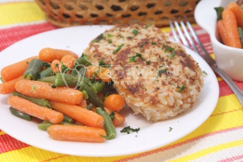 Рецепт Рыбные котлеты с рисом