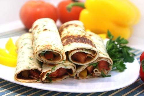 Блины с овощной начинкой. Пошаговый кулинарный рецепт с фотографиями приготовление фаршированных блинов с овощной начинкой.