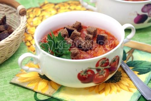 Рецепт Капустник с ржаными сухариками