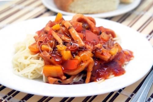 Рецепт Спагетти с соусом карбонара