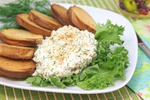 Рецепт Закуска из сыра фета с гренками