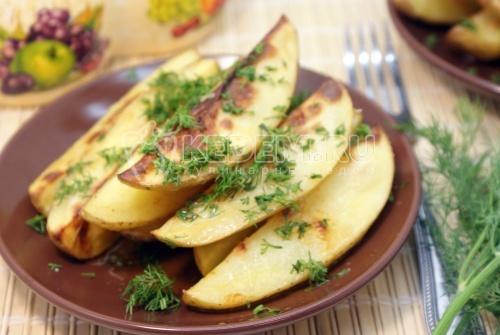 Рецепт Молодой картофель с укропом и чесноком