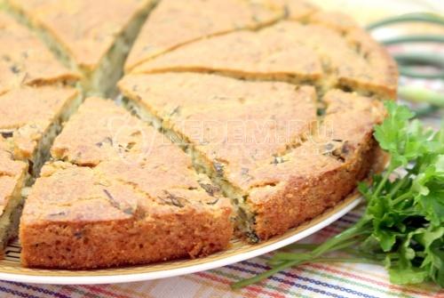 Пирог с зеленью. Пошаговый кулинарный рецепт с фотографиями приготовление пирога с зеленью.