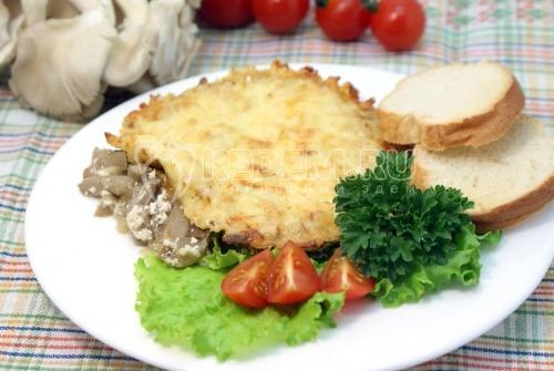 Рецепт Вешенки под сыром