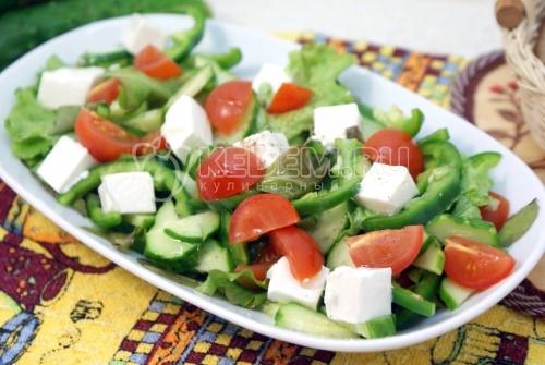 Рецепт Салат с сыром «Фета» и овощами