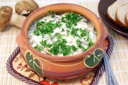 Рецепт Треска с белыми грибами