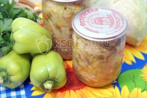 Рецепт Салат с капустой на зиму