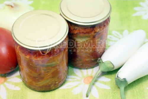 Рецепт Закуска из белых баклажан с морковью