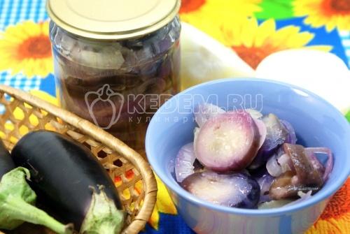 Рецепт Закуска из баклажан с луком