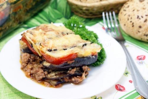 Рецепт Мусака с фаршем и баклажанами