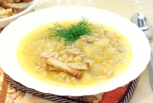 Рецепт Куриный суп с перловкой