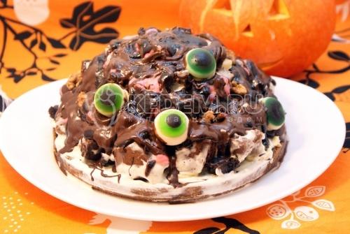 Рецепт Глазастый торт на Хэллоуин