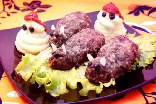 Рецепт Жаренные крыски с картофельным пюре