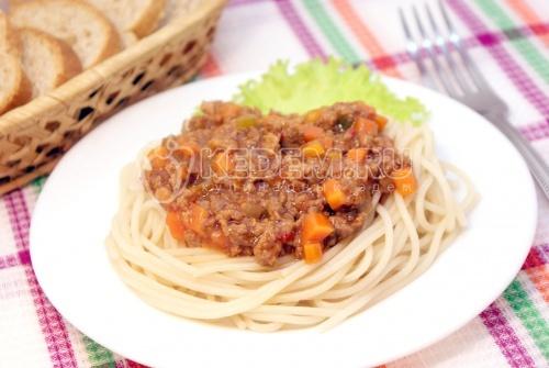 Рецепт Спагетти с мясной подливой