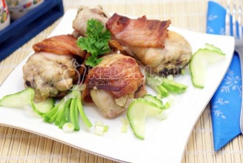Рецепт Куриные голени в беконе