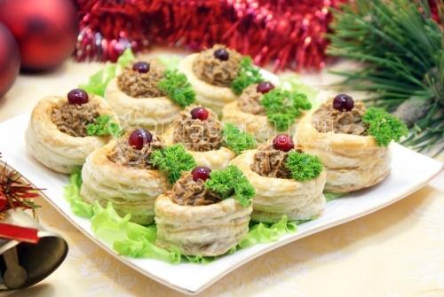 Рецепт Праздничный паштет в волованах