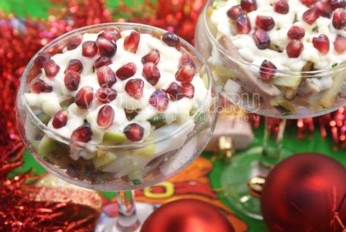 фото-рецепты вкусных салатов к новогоднему столу 2009 года