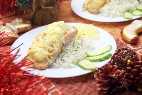Рецепт Кета под ананасами