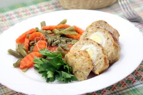 Рецепт Зразы из куриного фарша