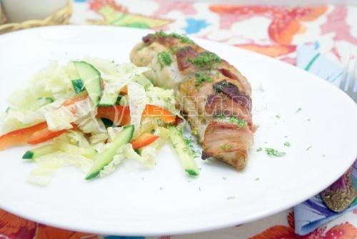 Рецепт Куриное филе запеченное с беконом