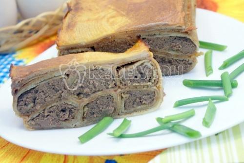 Рецепт Блинный пирог с печенью