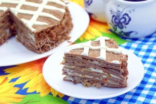 Рецепт Блинный торт с печенью