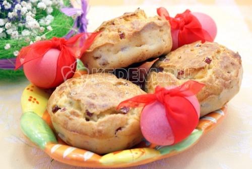 Рецепт Закусочные кексы на Пасху