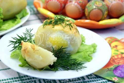 Рецепт Картофельные гнёзда на Пасху