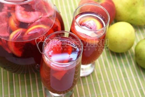 Рецепт Вишневый компот с лимоном
