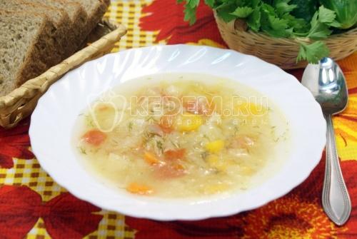 Рецепт Овощной суп в мультиварке