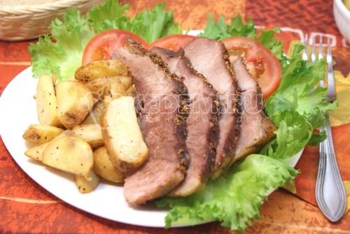 Рецепт Запеченное мясо с картофелем «Мужской подход»