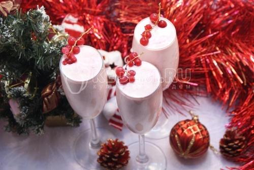 Рецепт Сливочный десерт «Новогодний»