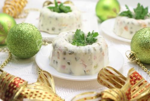 Рецепт Заливное «Оливье»