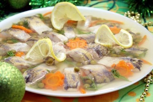 Рецепт Заливное из судака «Праздничное»