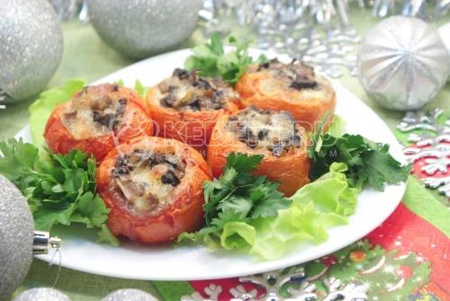 Рецепт Фаршированные помидоры в духовке «Праздничные»