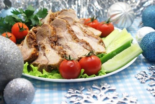 Рецепт Запеченное мясо в фольге на Новый год