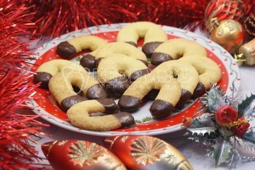 Рецепт Новогоднее печенье «Подковы»