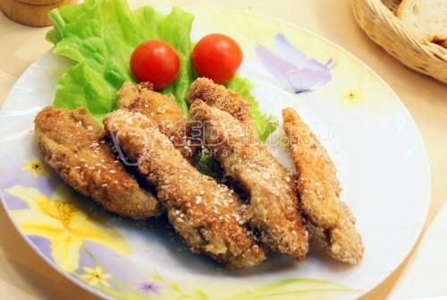 Рецепт Куриные грудки в панировке