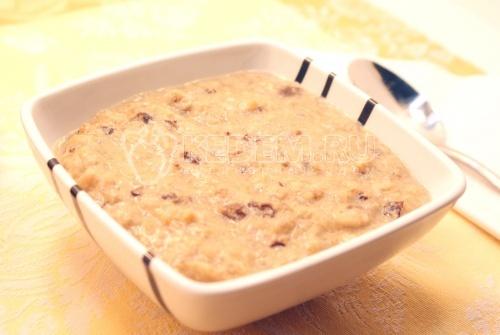 Рецепт Каша рисовая с бананом и черносливом