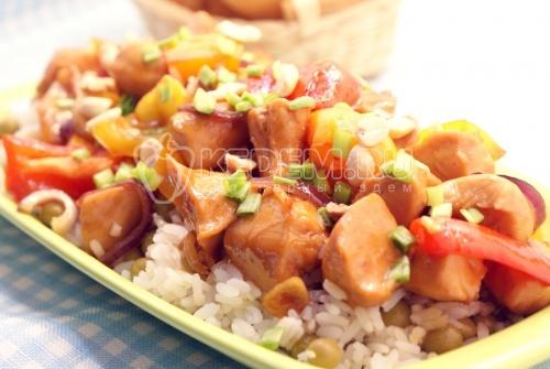 Рецепт Курица по-сычуаньски